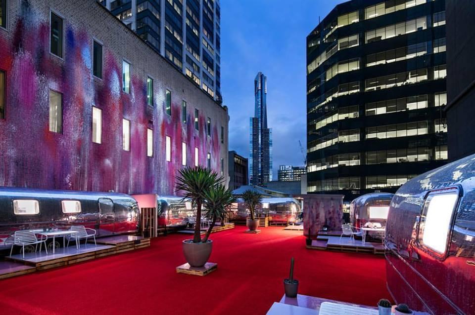 Camping im Airstream auf einem Dach: Melbourne macht es möglich